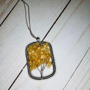 Jewelry - Citrine Tree of Life Pendant Necklace